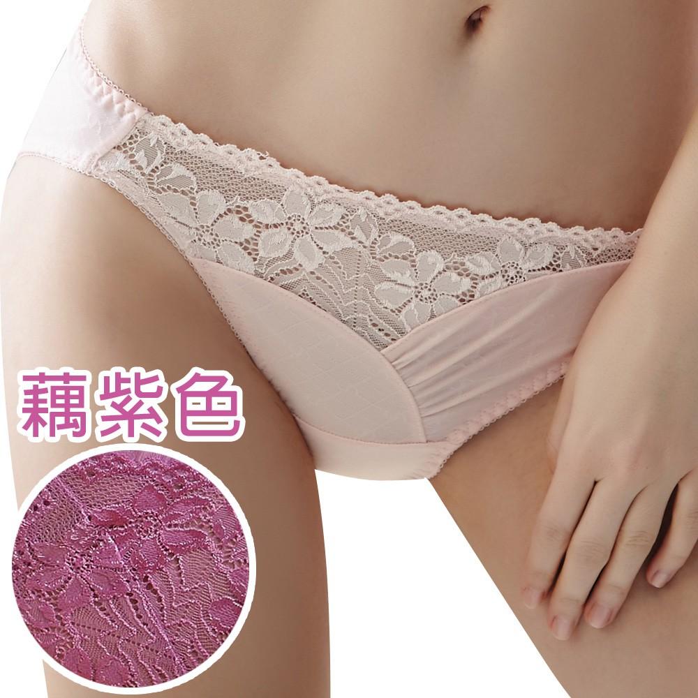 SWEAR 思薇爾 溝惹火系列M-XL低腰三角內褲 (藕紫色)