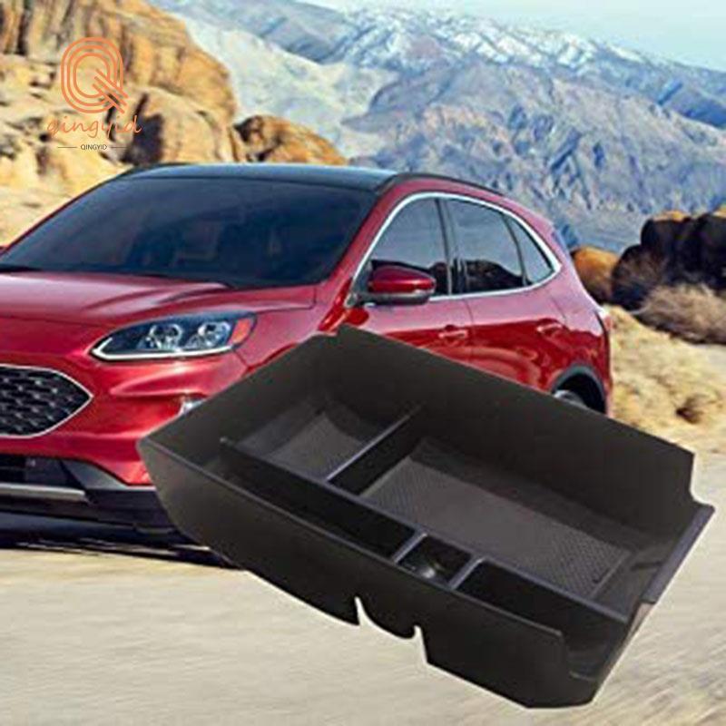 汽車中央扶手儲物盒輔助儲物中心控制台管理器適用於兼容Ford Escape 2020