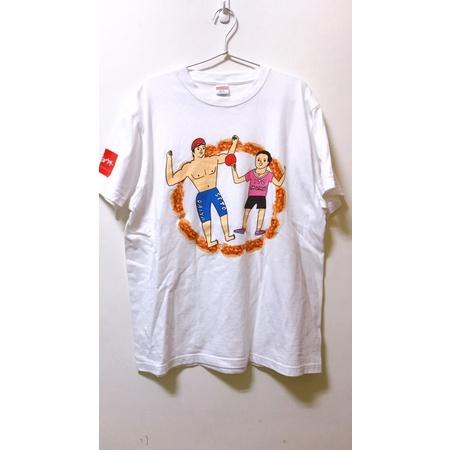 9成新 日本🇯🇵 味之素X東京奧運 Tokyo2020 紀念T-shirt United Athle 煎餃 伊藤美誠