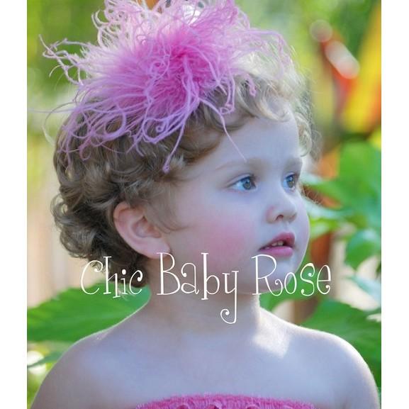 ❤Shopaholic❤美國Chic Baby Rose夢幻羽毛髮夾 現貨