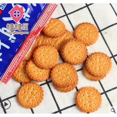 網紅日式小圓餅日本海鹽味小圓餅乾零食