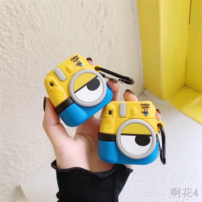 ◙❈▼花花小鋪 Airpods pro& Airpods 1&2黃色 小小兵 造型 相機可愛小黃人創意防摔保護套