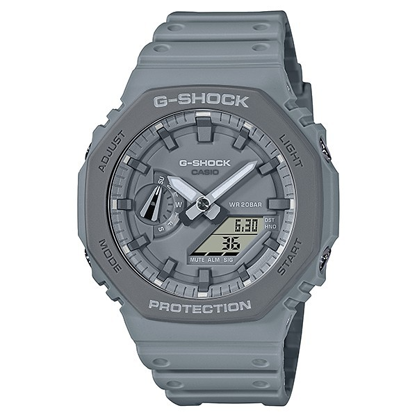 CASIO卡西歐G-SHOCK GA-2110ET-8A 超人氣農家橡樹八角形錶殼設計/灰 45.4mm