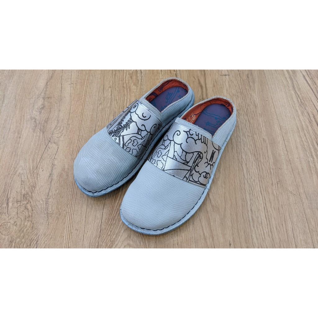 [鸚鵡鞋鋪]21.5零碼 MACANNA麥坎納 出清特賣保證正品 萊因河系列 象形花紋懶人鞋
