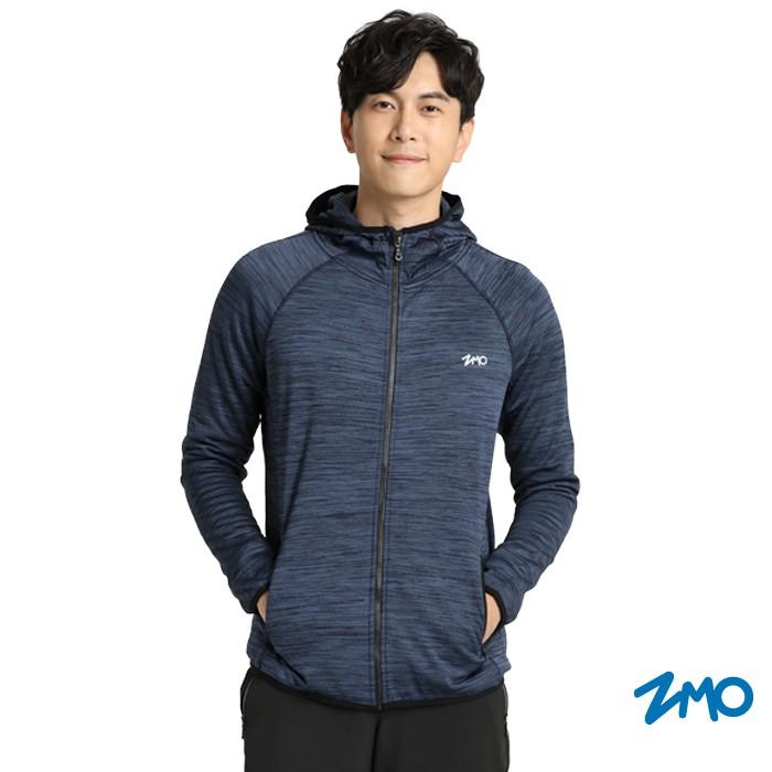 【ZMO】男THot保暖拉鍊長袖外套-丈青色