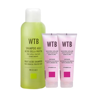 義大利原裝 WTB昂賽芙 洗髮精1000ml+亞麻籽護髮膜250mlx2