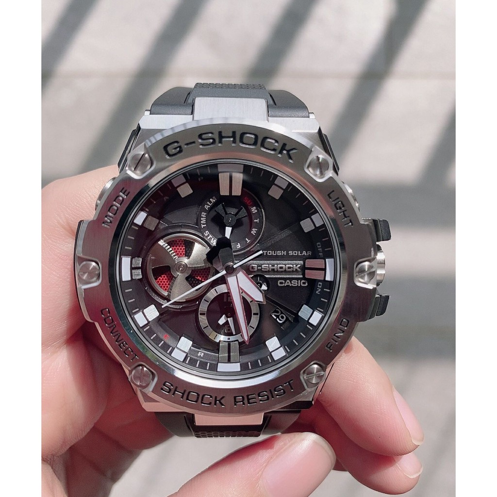 CASIO 卡西歐 G-SHOCK 黑色 運動手錶 GST-B100-1A