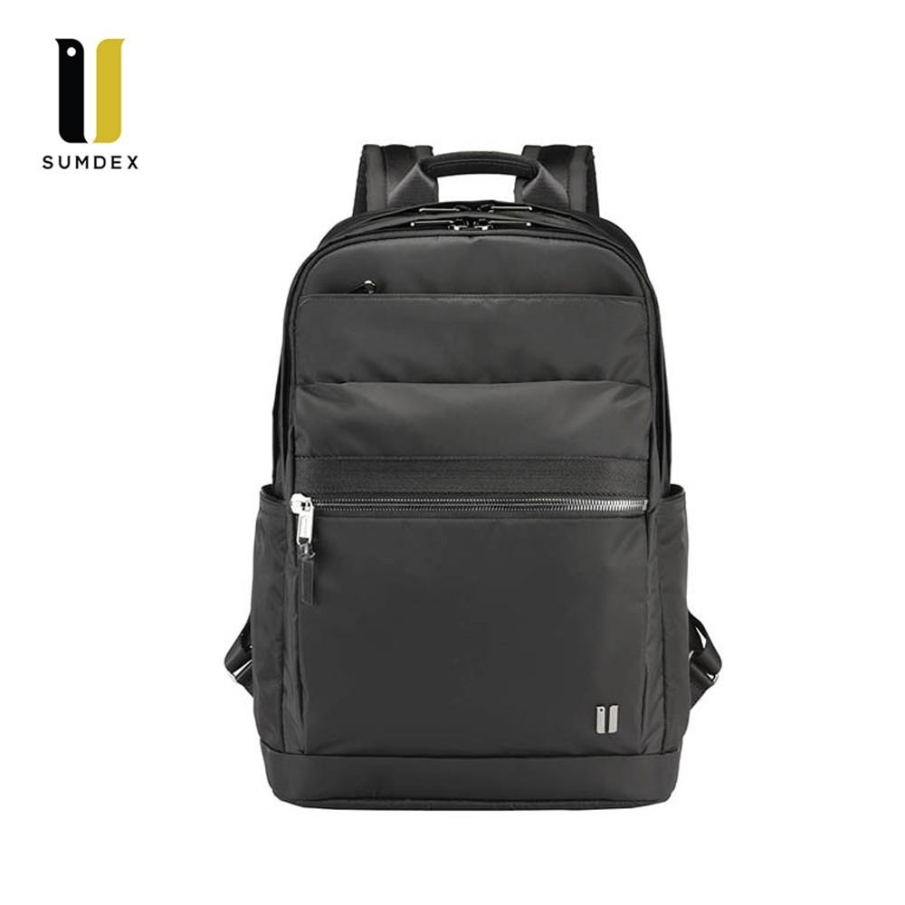 SUMDEX 14吋+10吋平板 都會商務後背包NON-795BK黑