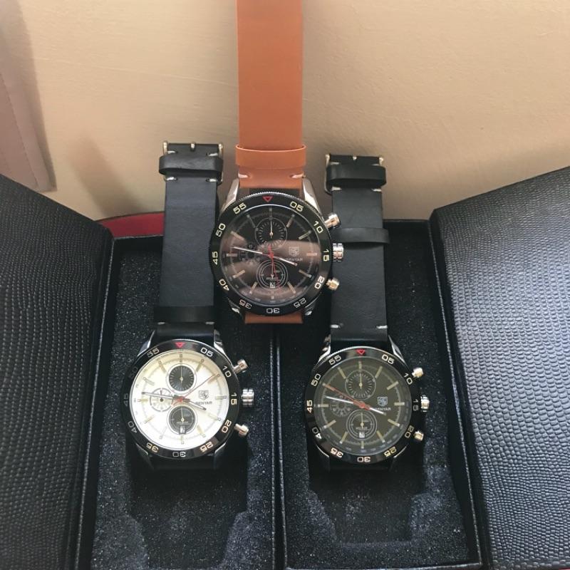 賓雅BENYAR超跑品牌水鬼皮帶錶