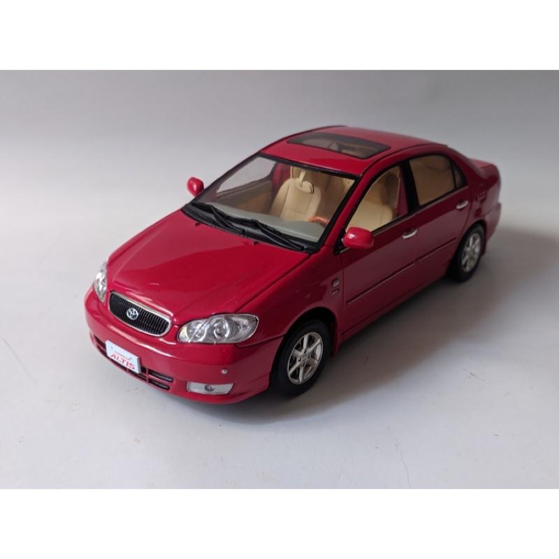 1/18 Toyota Corolla Altis 紅色模型車