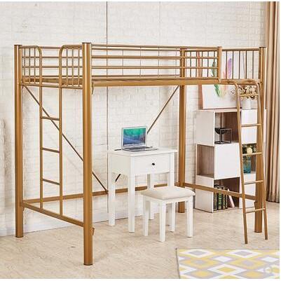 (新款熱銷)上下鋪鐵床鐵架床高低上下床高架床上床下空宿舍上床下桌家用大人
