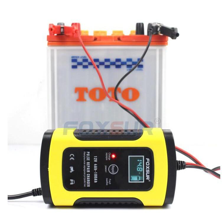 現貨速出 電瓶充電器 機車汽車摩托車 12V 5A/6A 全智慧通用修復型鉛酸蓄電池充電機 充電+修護功能/可開超取