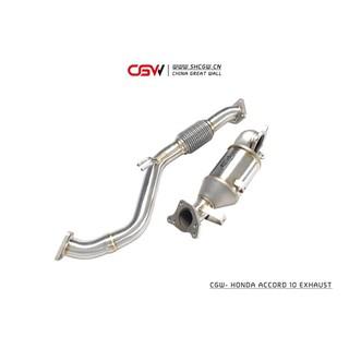 晟信 CGW HONDA ACCORD 10代適用 當派 觸媒 頭段 排氣管 Downpipe 桃園市
