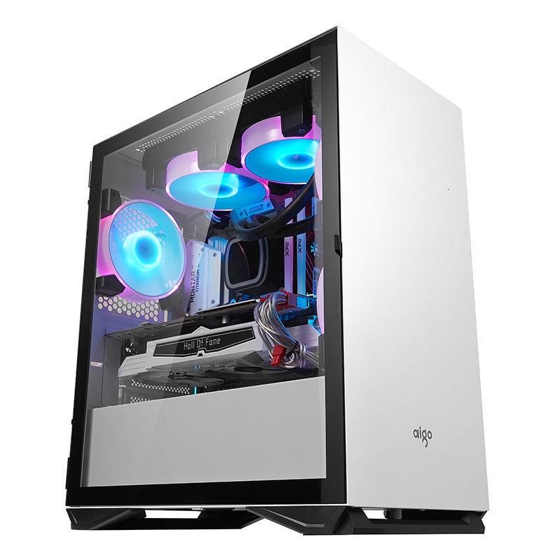 愛國者YOGO M2主機殼MATX側透防塵遊戲水冷粉色臺式電腦小主機殼