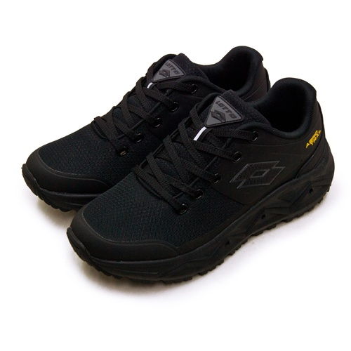 【LOTTO】專業郊山戶外透氣越野跑鞋 AERO TRAIL系列 黑灰 3600 男