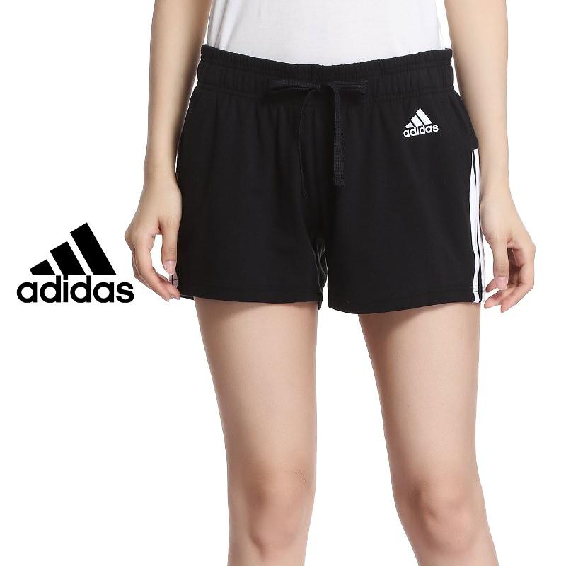 Adidas BR5963 三線 短褲 黑白 運動 女 愛迪達 三線 三條線 棉 運動 短褲 小熱