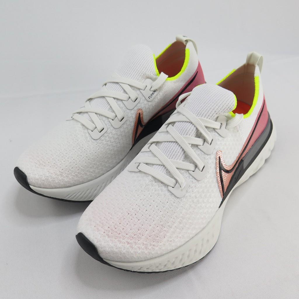 NIKE REACT INFINITY RUN FK 男款 慢跑鞋 CD4371004 白X金屬紅【iSport愛運動】