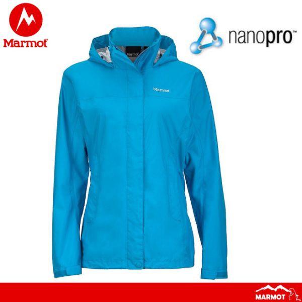 【Marmot 美國 女 Precip 防水透氣外套《藍》】462002910/風雨衣/防水/透氣/悠遊山水