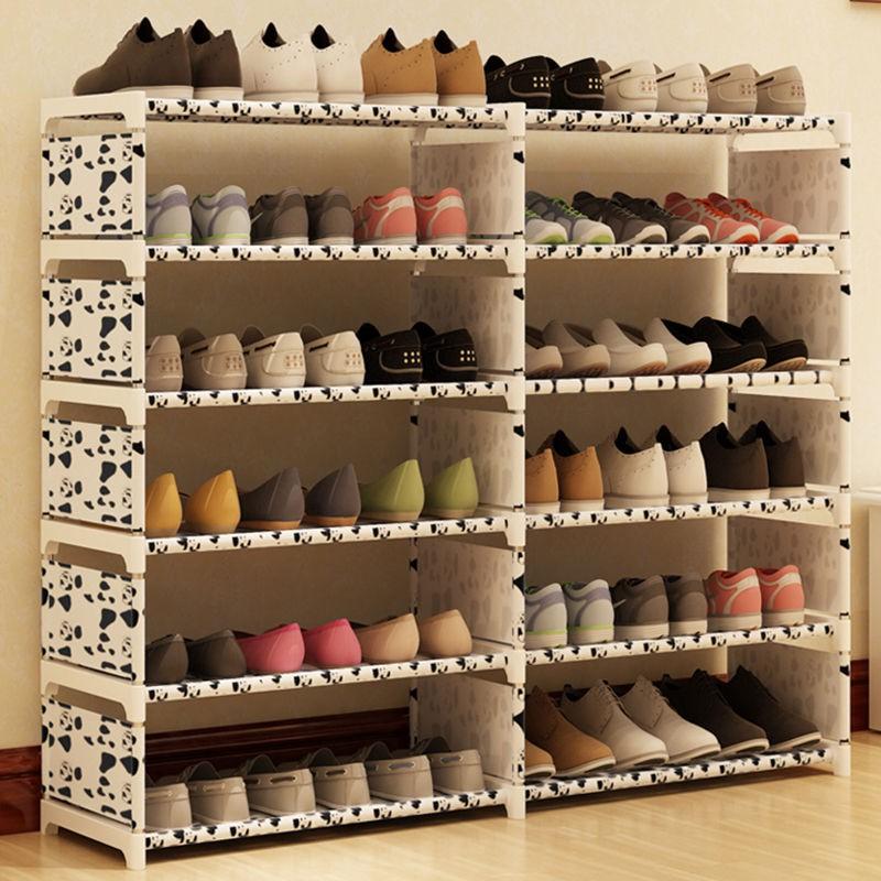 *爆款*組裝多層簡易門口小鞋架宿舍寢室經濟型塑料鞋架子防塵省空間家用