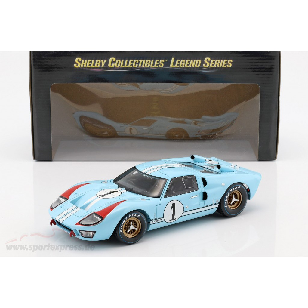 1/18 ShelbyCollectibles Ford GT40 LeMans利曼Ken Miles賽道狂人福特法拉利