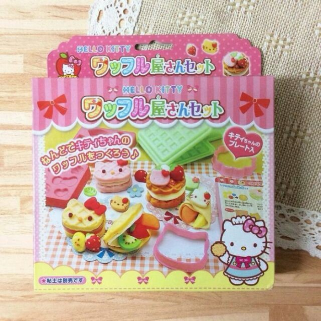 日本 銀鳥 GINCHO Hello Kitty 鬆餅屋模型組 黏土壓模