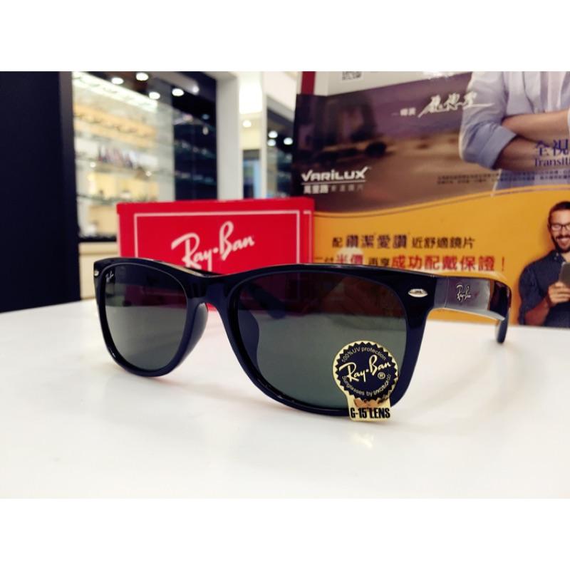 RayBan 雷朋 經典G15墨綠色鏡片黑色太陽眼鏡 RB2132F 901 58 義大利製 公司貨 2132