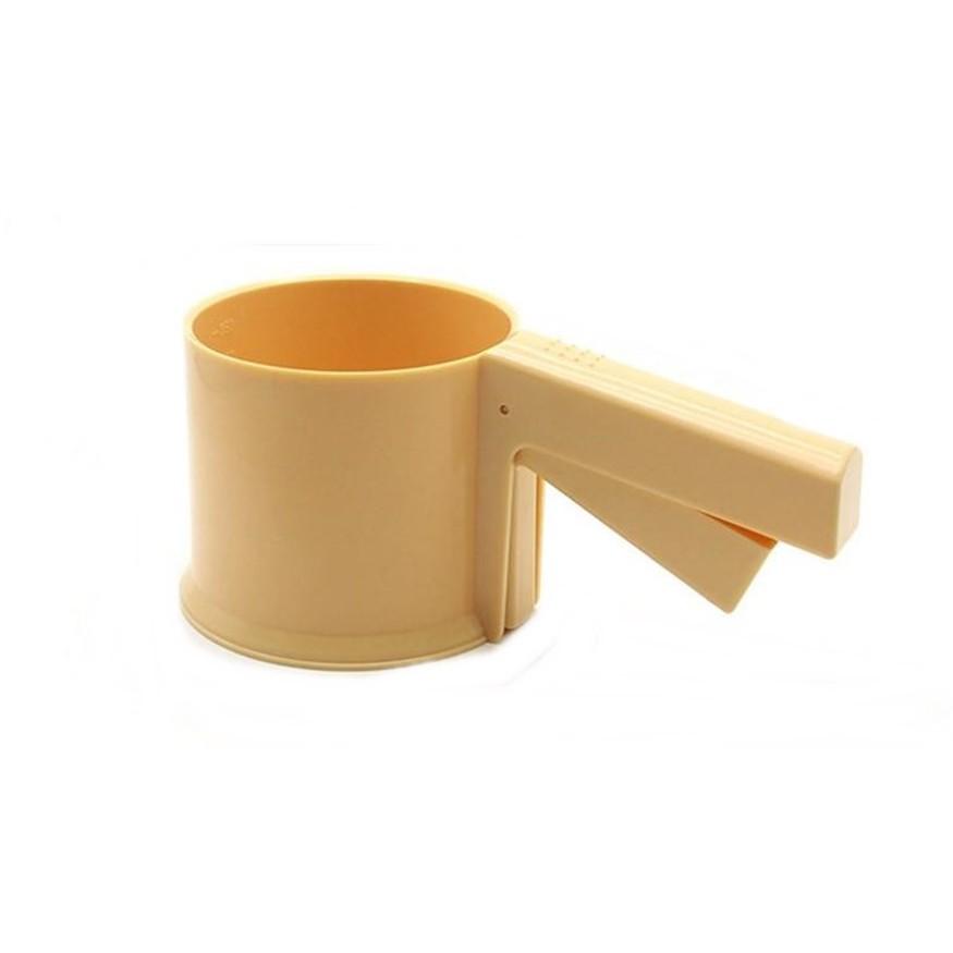 【烘焙麵粉篩】麵粉篩糖粉篩 手持杯式濾細篩網 烘焙工具 食品級PP塑料 一體 DIGITAL INTERNAT1128劉