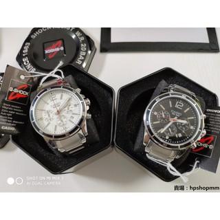 【實拍】CASIO卡西歐 男款真三眼 日曆 石英手錶 男士手錶 精鋼錶帶 台北市