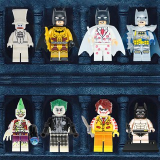 與 Legoing Marvel Minifigures Bruce Wayne Batman Arkham Games