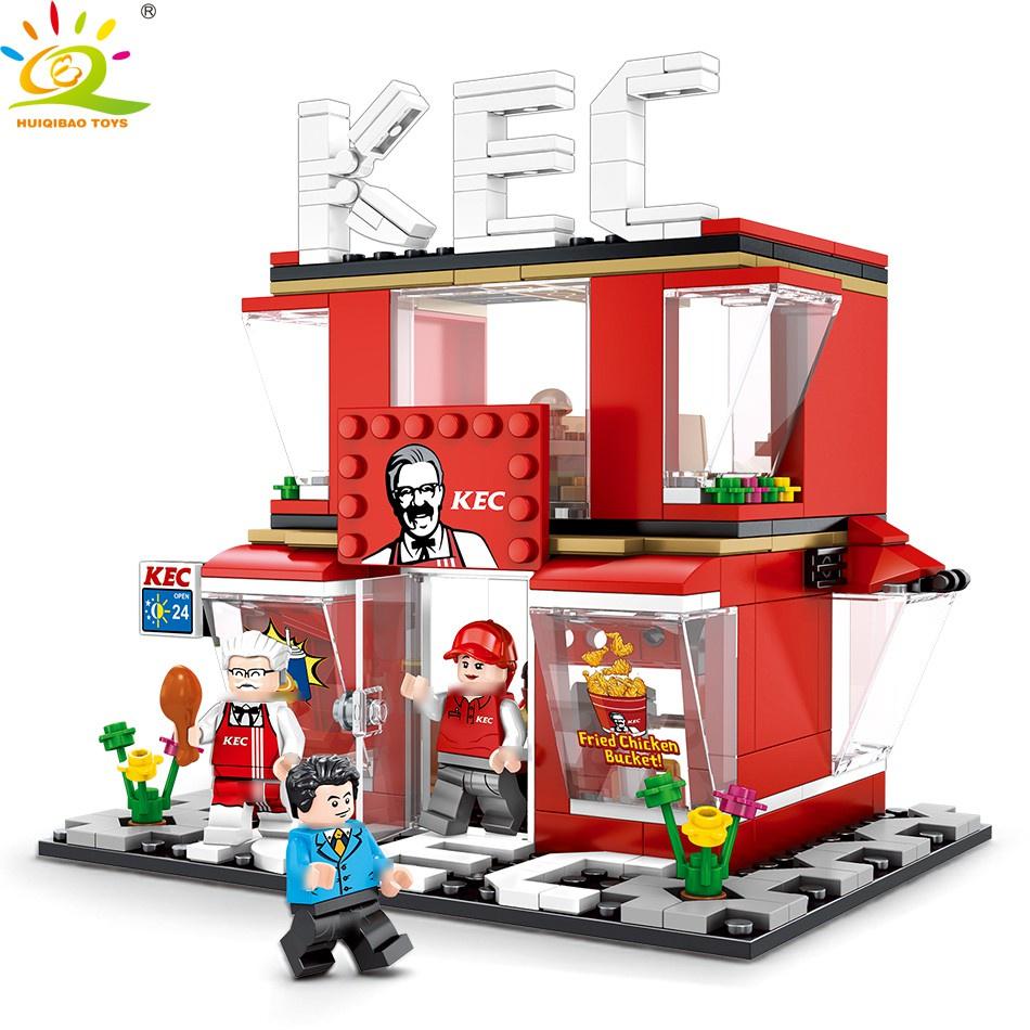 🌟積木 60108 迷你街景 相容樂高 LEGO 街景積木 城市系列 哈根達斯 7-11