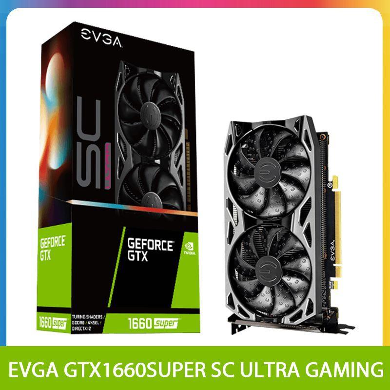 代購★EVGA GeForce GTX 1660 SUPER SC ULTRA GAMING 6G電腦遊戲顯卡