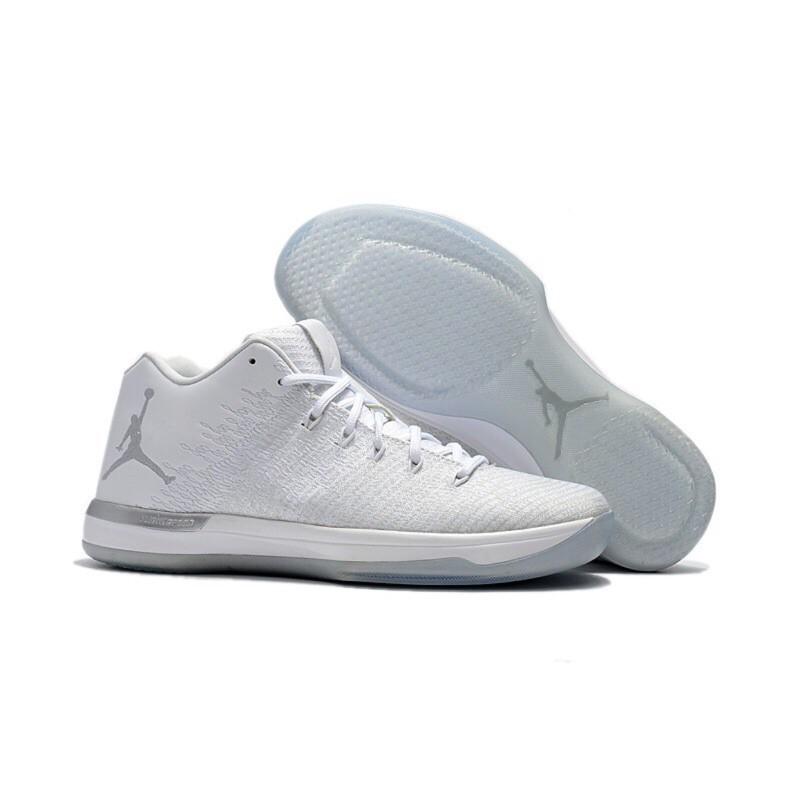 Nike AIR JORDAN XXXI 低筒 LOW 白銀色 白色 31代 AJ31 喬丹 跳跳人 飛人【小#9780