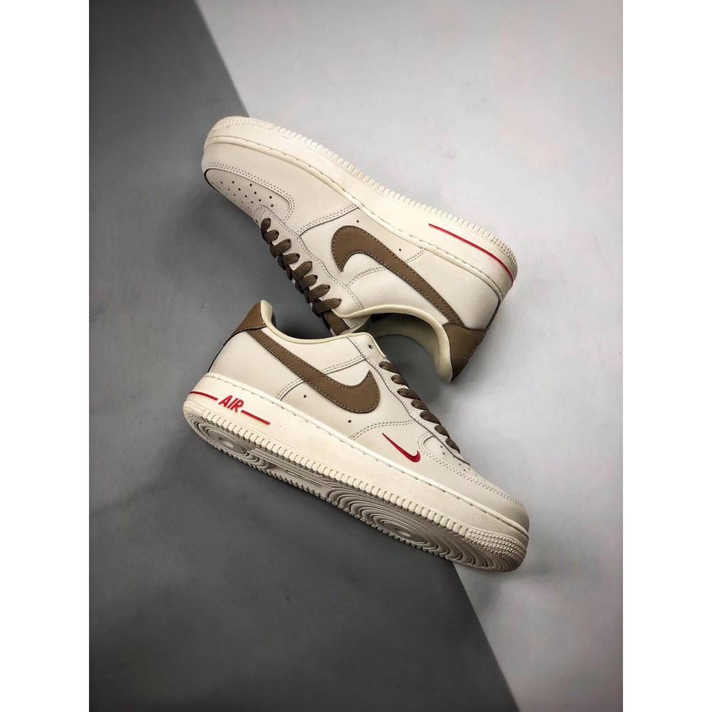 Nike Air Force 1 Low '07 奶咖啡色 皮革 低幫 休閒運動板鞋 男女鞋現貨