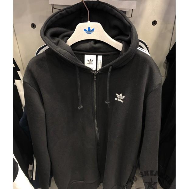 hombro Granjero Consejo  當天出貨Adidas Originals Trefoil 三葉草內鋪棉外套連帽外套保暖外套DN6016 黑| 蝦皮購物
