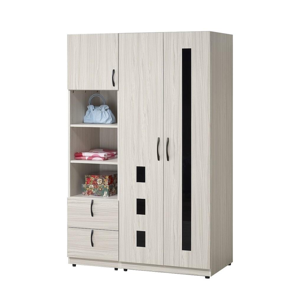 衣櫃/衣櫥/組合衣櫃 白雪松4尺系統衣櫃 YD米恩居家生活