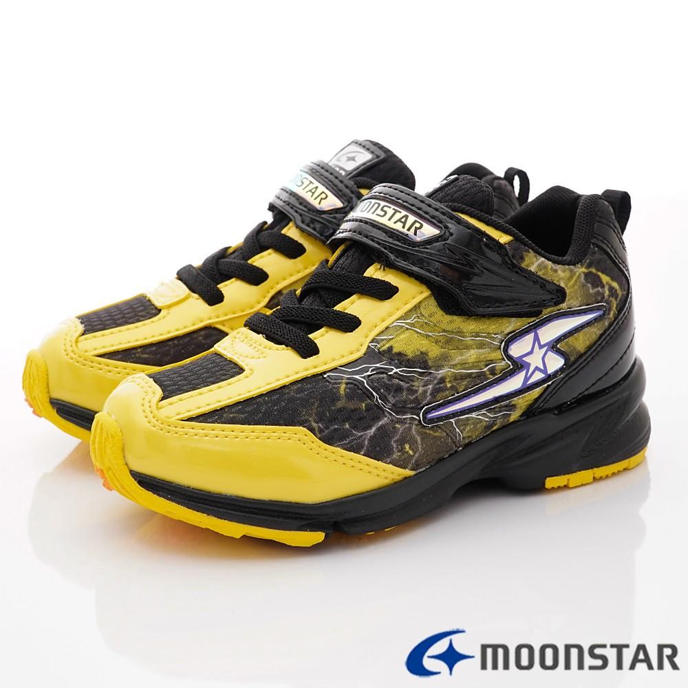 日本月星Moonstar機能童鞋 3E閃電競速系列運動鞋 9646黃(中大童段)零碼