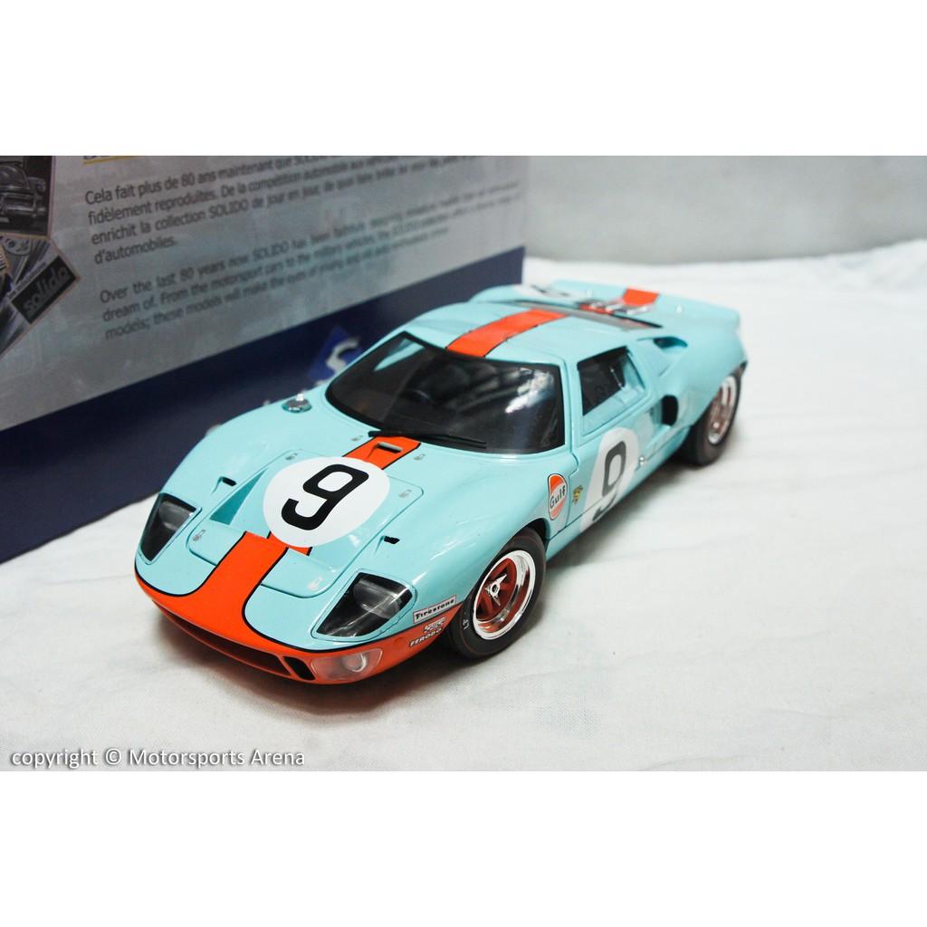 【現貨特價】1:18 Solido Ford GT40 Gulf LeMans 1968 利曼大賽冠軍
