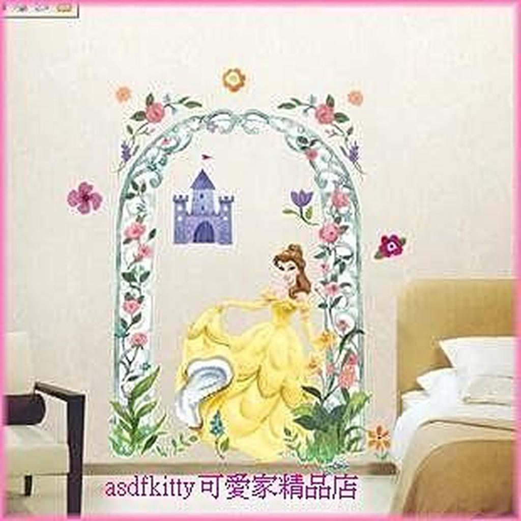 家用 Asdfkitty 迪士尼公主大型壁紙 壁貼 牆壁裝飾貼 瓷磚裝飾貼