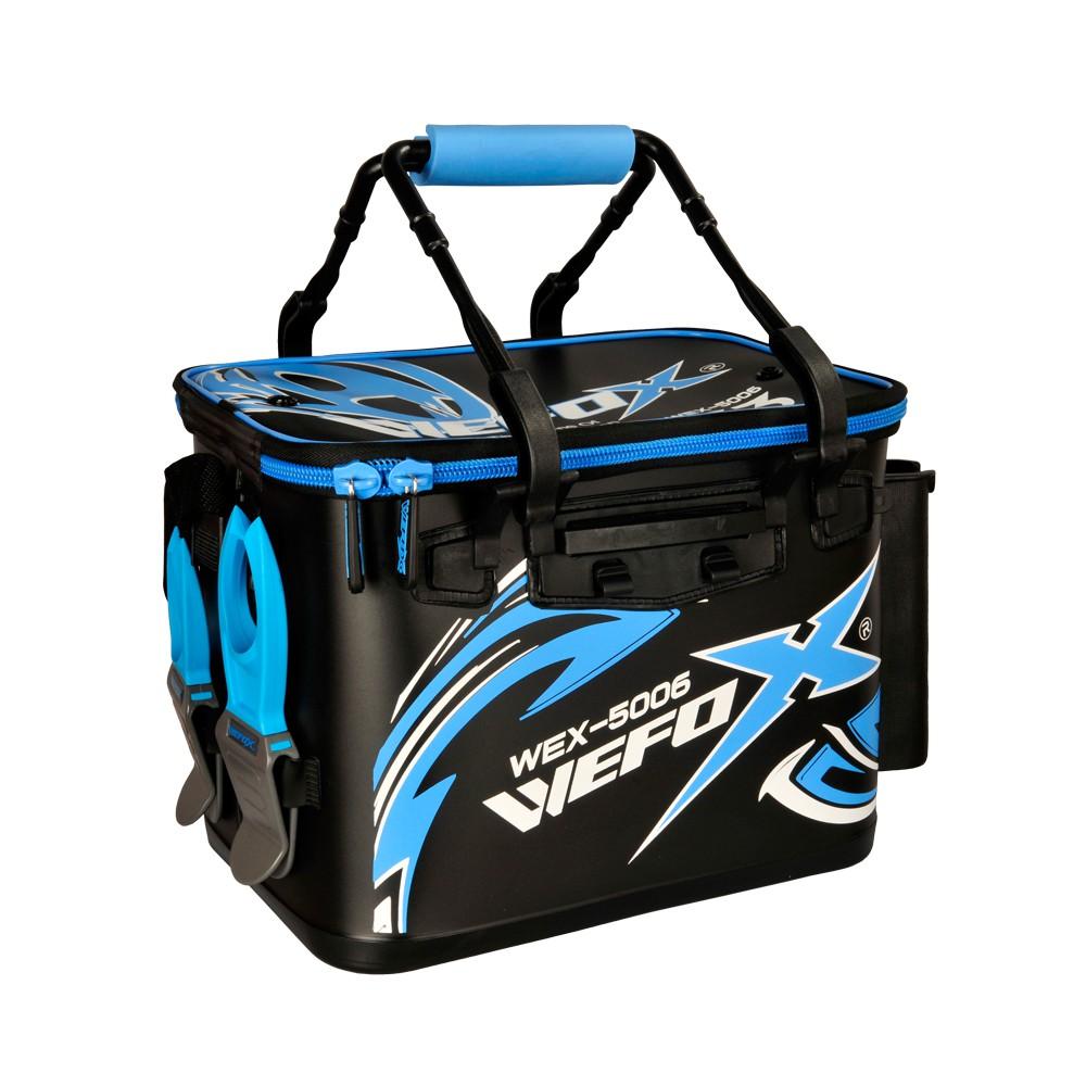 ★阿一釣具商城★ 全新 WEFOX WEX-5006 雙色餌袋 餌袋 硬式 ASA桶