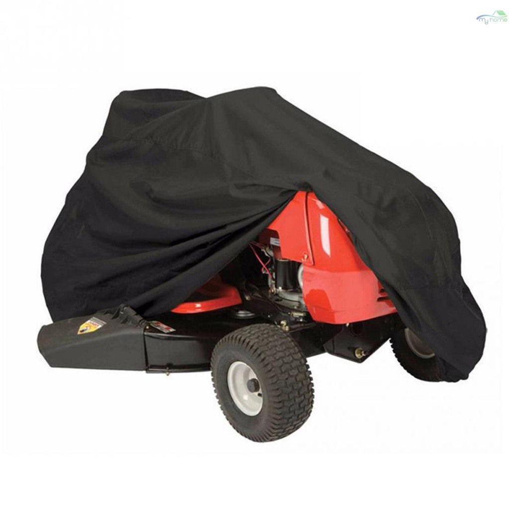 [/ New /] 割草機罩防水防紫外線拖拉機罩防塵便攜式山地車自行車摩托車罩, 帶抽繩戶外天氣保護