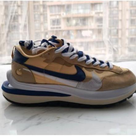 美國正品  Sacai x Nike VaporWaffle 卡其棕 紫色 解構 DD1875-200 跑步運動休閒
