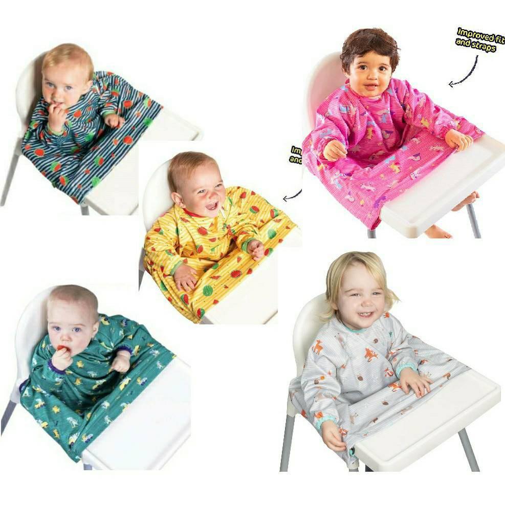 現貨-英國Bibado最新升級款 防水防髒圍兜 長袖圍兜 寶寶自主進食最佳輔助圍兜 可機洗 媽媽輕鬆省力