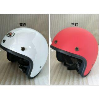 優惠出清~ 3/ 4罩 小帽體安全帽 復古帽 半罩 GT*R GTR GMG 素色安全帽 高雄市