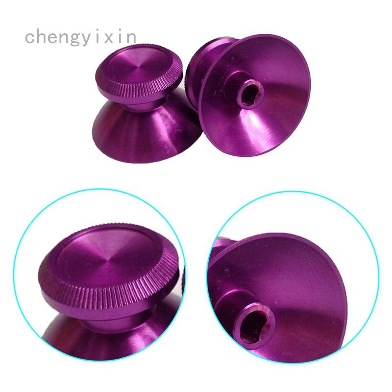 Chengyixin 8 色 1pc 金屬模擬拇指握把拇指棒帽拇指棒操縱桿蓋按鈕蓋, 用於 Xbox One 控制器