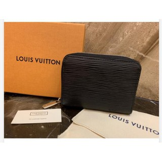【Fra二手精品】Louis Vuitton LV M60152 黑色 EPI 水波紋 拉鍊零錢包 M60720 現貨