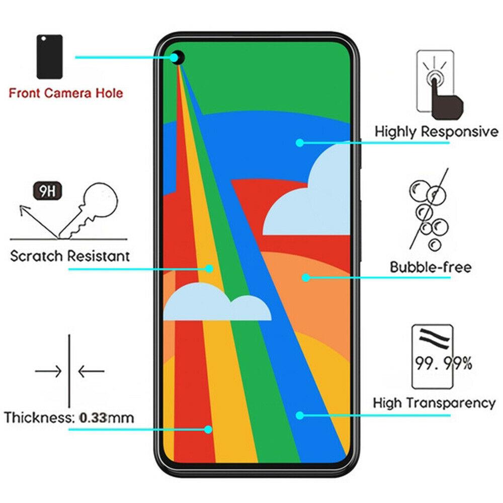 適用於 Google Pixel 5 / Pixel 4a 5g 全屏透明鋼化玻璃保護膜鋼化膜