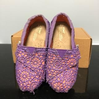 TOMS女童紫色蕾絲 休閒鞋 由國外帶回 新北市