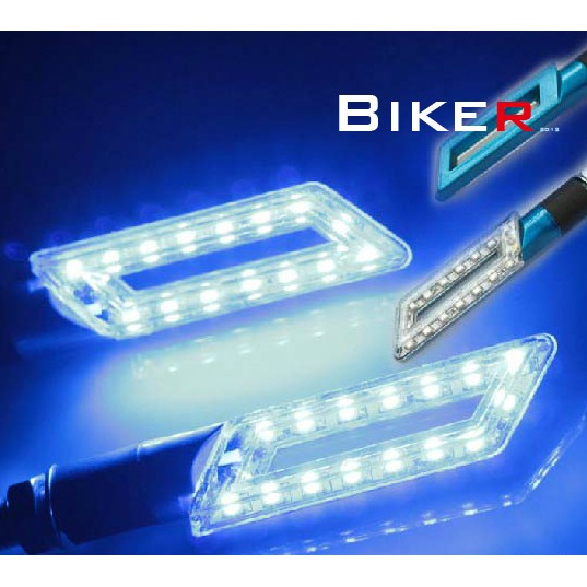 【KT BIKER】LED 刀型 方向燈 (兩入) 全車系通用 重機 野狼 雲豹 T1 酷龍〔LDL001〕