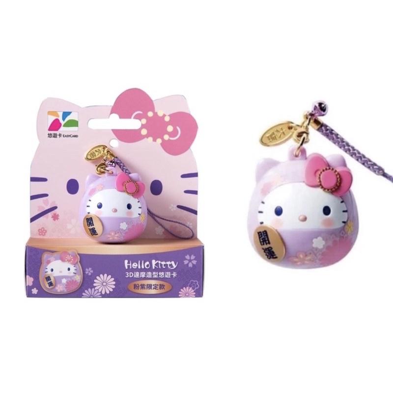 🔥有貨🔥7-11 Hello Kitty 3D 達摩 悠遊卡 粉紫 開運 三麗鷗 立體 交通卡 KT