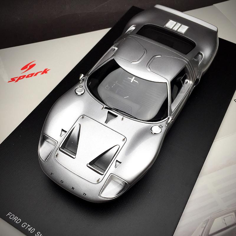 Spark1:18 福特 GT40 1966超跑賽車汽車模型高端成人收藏擺件